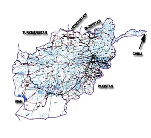 نقشه افغانستان