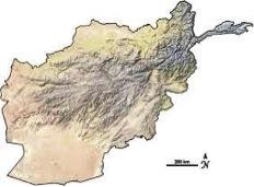 نقشه طبیعی افغان