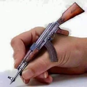 سخن  از  نوک تفنگ  از  ارمغان ملی