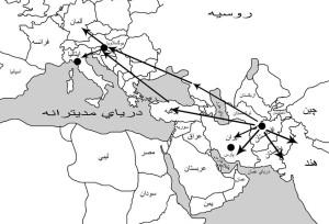 نقشه مدیترانه